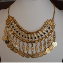 Nana and Jules boho chic Collar babero dorado tipo indio