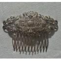 Peineta vintage plata antigua de filigrana