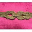 Cinturón de fiesta con nudo en cordón de seda grande