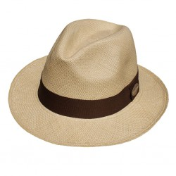 Nana and Jules boho chic Hat Classic Panama beige, brown band