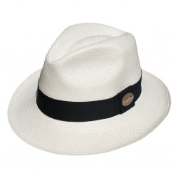 Nana and Jules boho chic Hat Classic Panama white, black band