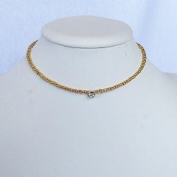 Short necklace with a bijoux diamond