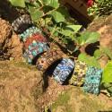 Brazalete de mostacilla, hecho a mano en Guatemala
