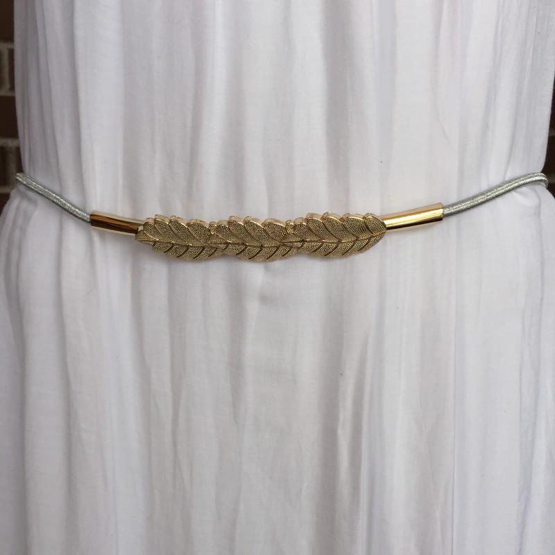 Cinturón elástico tres hojas doradas. - Nana   Jule s c874d77535a1
