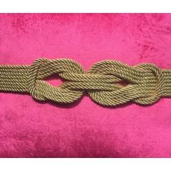 Nana and Jules boho chic Cinturón de fiesta con nudo en cordón de seda grande