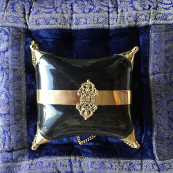 Nana and Jules boho chic Bronze with black, Horn and bronze, Velvet interior