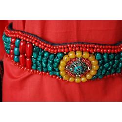 Nana and Jules boho chic Natural stone multicolor belt
